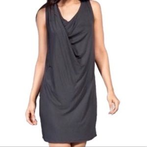 Vince Drape Tee Dress in Charcoal Size Medium